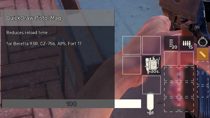 Additional magazines are extremely useful during fights in Fear the Wolves, especially when you are forced to use a weapon that can hold only 10 bullets in the main magazine - Gadgets in Fear the Wolves - Equipment - Fear the Wolves Game Guide
