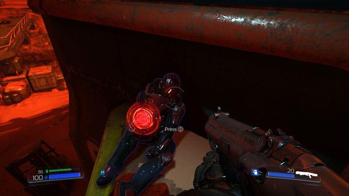 Идите прямо после сбора гранаты и спрыгивайте вниз на группу противников - ОАК |  Секреты - Секреты - Руководство по игре в Doom и прохождение