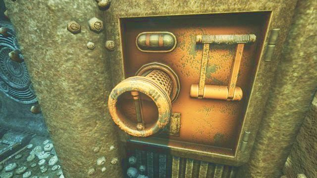 In order to open the gate, you will have to complete a simple puzzle. - On the way to the Theta station | Riddles and puzzles of SOMA Game - Riddles and puzzles - SOMA Guide