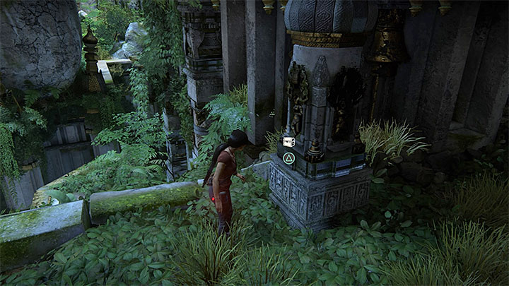 This treasure is to the right of the large Shivas statue - 7. The Lost Legacy | All Secrets - Secrets - Uncharted: The Lost Legacy Game Guide