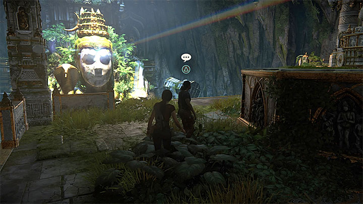 You can unlock the last conversation after you reach the upper chamber with prism and mirrors - 7. The Lost Legacy | All Secrets - Secrets - Uncharted: The Lost Legacy Game Guide