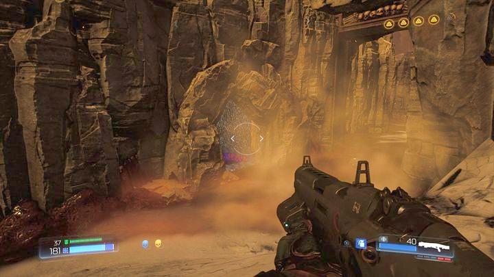 Вход в карту можно найти, прыгнув направо от моста, который ведет к большим воротам - Kadingir Sanctum |  Секреты - Секреты - Руководство по игре в Doom и прохождение