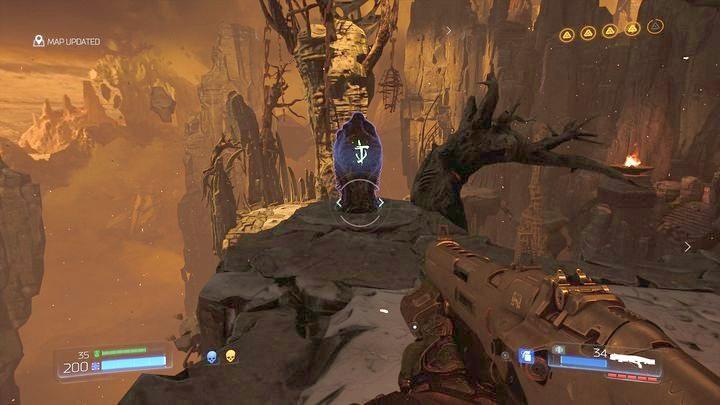 Во время восхождения вы встретите еще один Data Log в форме рунического камня - Kadingir Sanctum |  Секреты - Секреты - Руководство по игре в Doom и прохождение