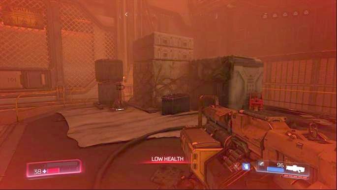 Начните подниматься на платформы, освещенные зеленым, после убийства первого Cacodemon - Destroyed Argent Facility |  Секреты - Секреты - Руководство по игре в Doom и прохождение