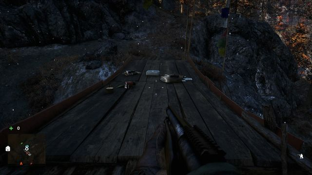 The letter is lying on a wooden bridge connecting two rock shelves - Northern and north-eastern Kyrat - Lost Letters - Far Cry 4 - Game Guide and Walkthrough