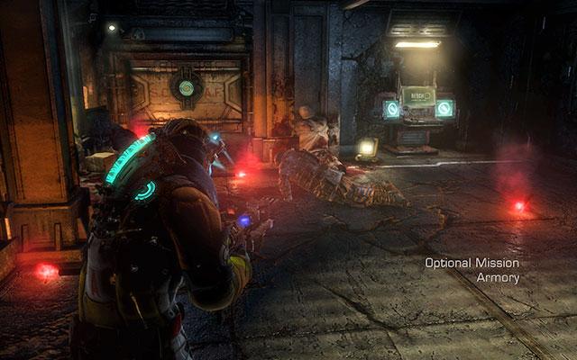 После подготовки к миссии отправляйтесь к лифту - Защитите оружейные боеприпасы |  Побочные миссии: Оружейная - Побочные миссии: Оружейная - Dead Space 3 Руководство по игре