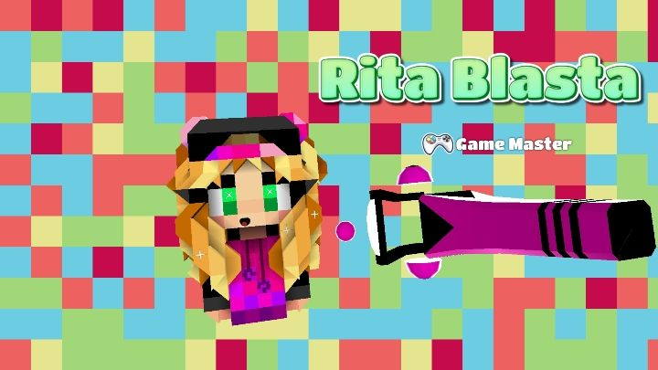 One of the NPCs that you meet is Rita Blasta - Step 4 - Weapons and combat (battle mode) in BlockStarPlanet - 10 steps to start - BlockStarPlanet Guide