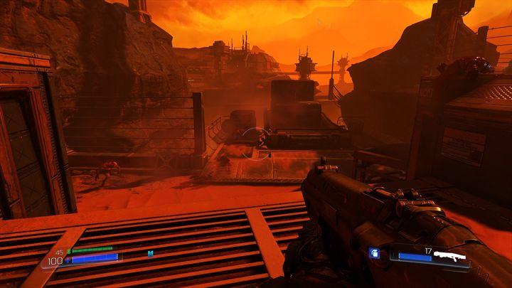 Спрыгните вниз после того, как вы обнаружите первую Элитную Гвардию - UAC |  Секреты - Секреты - Руководство по игре в Doom и прохождение