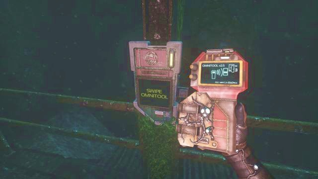Use the Omnitool to open the passageway. - On the way to the Theta station | Riddles and puzzles of SOMA Game - Riddles and puzzles - SOMA Guide