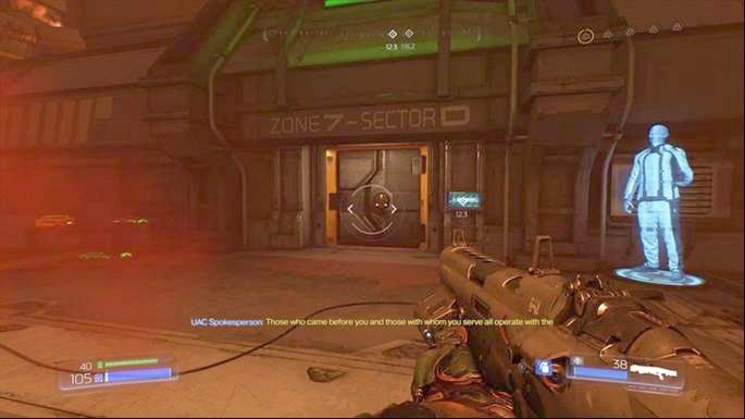 После битвы с группой демонов вы доберетесь до двери, отмеченной на радаре - Уничтоженный Серебряный Объект |  Секреты - Секреты - Руководство по игре в Doom и прохождение