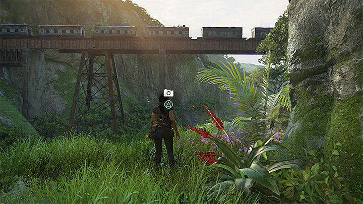 You take this only photo after you have climbed using the hatchet (after the series of uncontrollable slides down) - 8 - Partners | Secrets - Secrets - Uncharted: The Lost Legacy Game Guide