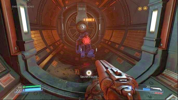 Теперь вы можете прыгнуть туда с помощью пусковой установки - Destroyed Argent Facility |  Секреты - Секреты - Руководство по игре в Doom и прохождение