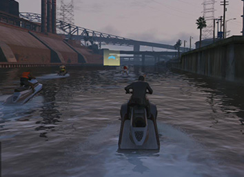 Suit and a water scooter sounds great together... doesnt it?. - Sea Races   Activities - Activities - Grand Theft Auto V Game Guide