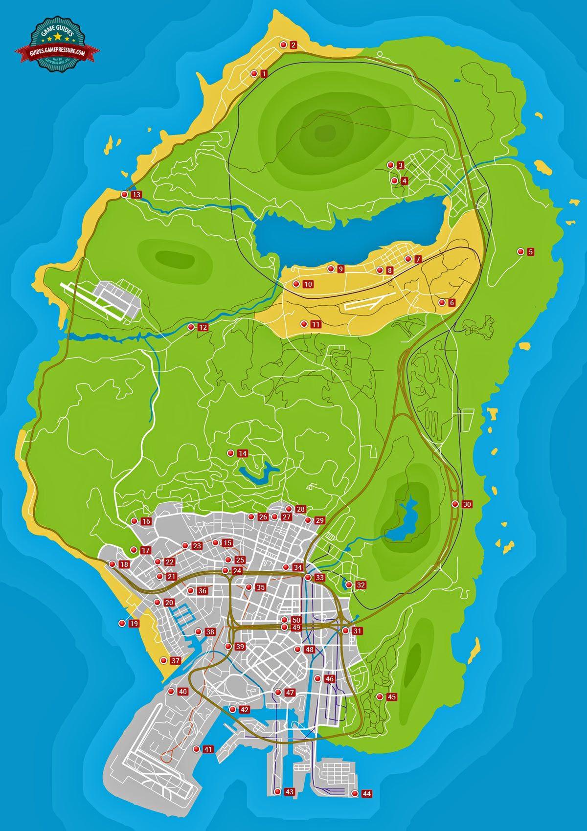 GTA V map - Monkey Mosaics