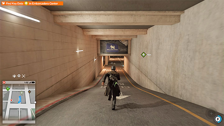 The secret can be accessed from the east, by driving to an underground parking lot which entrance is shown on the screenshot - Key data - locations from 1 to 12 - Collectibles - Watch Dogs 2 Game Guide