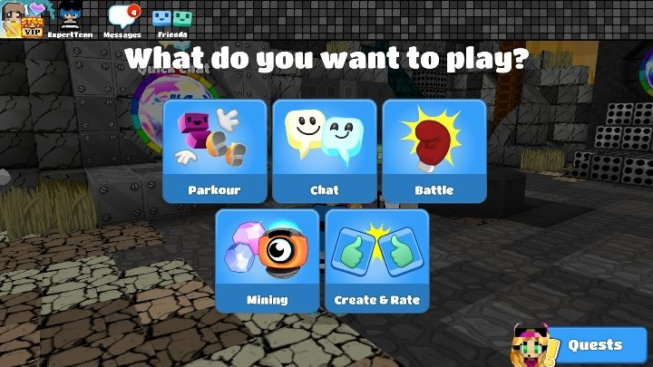 In this mode you choose your weapon and start fighting against players in different worlds - Step 4 - Weapons and combat (battle mode) in BlockStarPlanet - 10 steps to start - BlockStarPlanet Guide