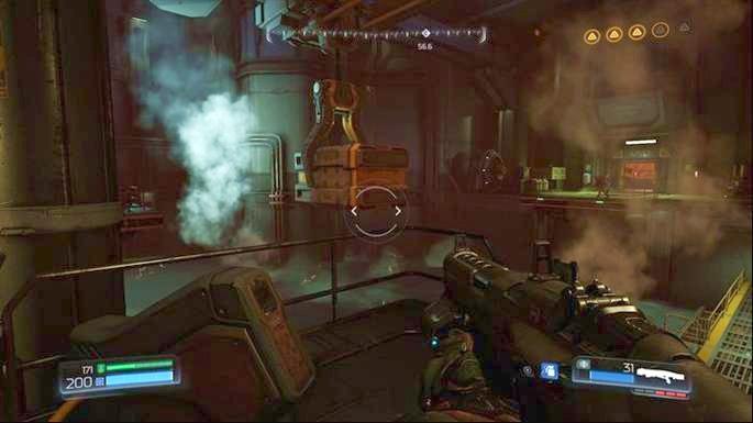 Используйте компьютер перед желтой дверью после того, как уничтожите первое Гнездо Гора - Уничтожено Серебряное Средство |  Секреты - Секреты - Руководство по игре в Doom и прохождение