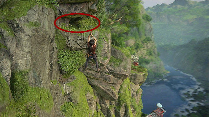 You can find this treasure soon after you have reached the hook shown in screenshot 1 - 8 - Partners | Secrets - Secrets - Uncharted: The Lost Legacy Game Guide