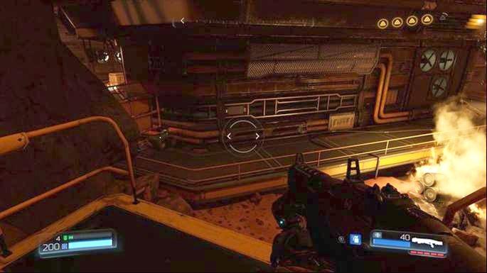Дальнейший путь от боевого беспилотника ведет через дверь внизу - Уничтоженный Серебряный Объект |  Секреты - Секреты - Руководство по игре в Doom и прохождение