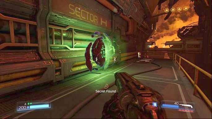 Это приведет вас к руническому испытанию - Бронированное наступление - Разрушенный объект Арджента |  Секреты - Секреты - Руководство по игре в Doom и прохождение