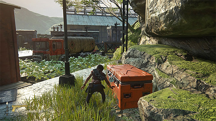 The third crate is also in the right part of the train station - 8 - Partners | Secrets - Secrets - Uncharted: The Lost Legacy Game Guide
