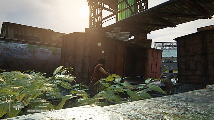 The fourth crate is inside the car shown in the above screenshot in the central part of the station - 8 - Partners | Secrets - Secrets - Uncharted: The Lost Legacy Game Guide
