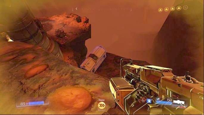 Под ним есть выступ, на котором спрятана Серебряная ячейка - Уничтоженный объект |  Секреты - Секреты - Руководство по игре в Doom и прохождение