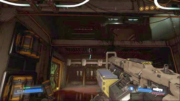 Вернитесь к входу после получения желтого ключа и прыгните на этаж выше - Уничтоженный объект Серебряного |  Секреты - Секреты - Руководство по игре в Doom и прохождение