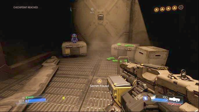 За углом вы найдете второй предмет коллекционирования (Патриотгай) - Уничтоженный объект Арджент |  Секреты - Секреты - Руководство по игре в Doom и прохождение