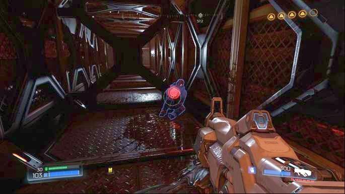 Повернувшись, спрыгнув вниз, прыгайте в коридор перед собой - Уничтоженный Серебряный Объект |  Секреты - Секреты - Руководство по игре в Doom и прохождение