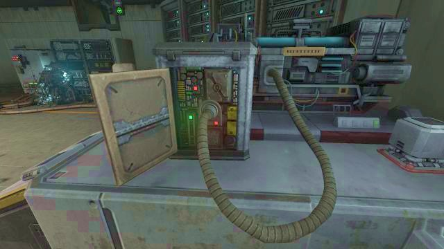 Stick the cable into the computer to restore the power. - Theta laboratory | Riddles and puzzles of SOMA Game - Riddles and puzzles - SOMA Guide