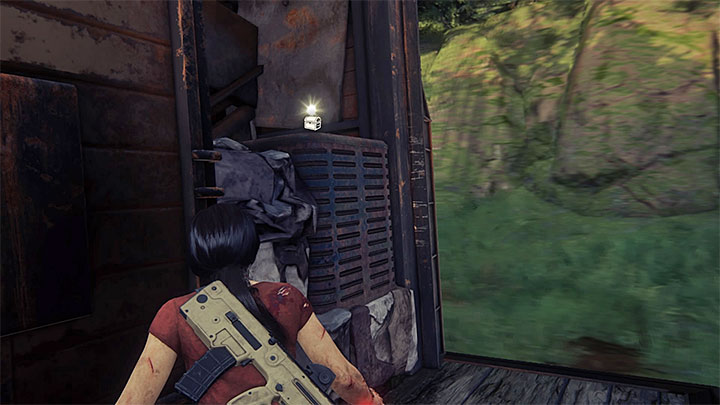 The treasure is located on the other side of the locked wagon which sees you utilize the side ledges (screenshot 1) - 9 - End of the Line | Secrets - Secrets - Uncharted: The Lost Legacy Game Guide