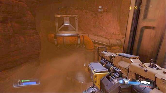 First, jump on the first platform - Advanced Research Complex | Secrets - Secrets - Doom Game Guide & Walkthrough