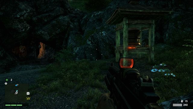 The wheel is located near the entrance to a cave, to the right of the path - Southern and central Kyrat - Mani Wheels - Far Cry 4 - Game Guide and Walkthrough