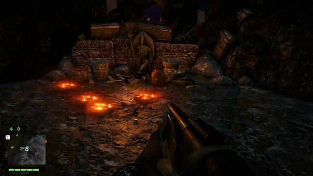 The bag is located inside the cave, near a small altar - Northern and north-eastern Kyrat - Lost Letters - Far Cry 4 - Game Guide and Walkthrough