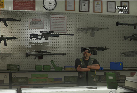 Big choice! - Ammu-Nation and Shooting Ranges - Shopping - Grand Theft Auto V Game Guide
