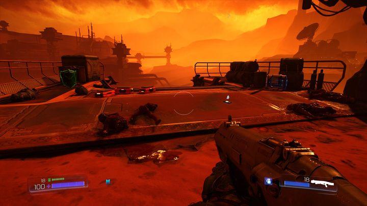 Путь, который там находится, приведет к месту с аптечкой, доспехами и бревном - UAC |  Секреты - Секреты - Руководство по игре в Doom и прохождение