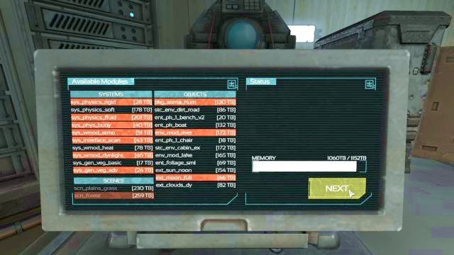 The proper module activation list. - Theta laboratory | Riddles and puzzles of SOMA Game - Riddles and puzzles - SOMA Guide