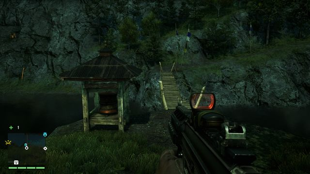 You will find the wheel near a bridge on the river, not far from the path - Southern and central Kyrat - Mani Wheels - Far Cry 4 - Game Guide and Walkthrough