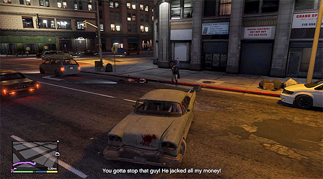 You need to stop the thieves and retrieve the cash stolen by them - Chase thieves city (1-2) - Random events - Grand Theft Auto V Game Guide