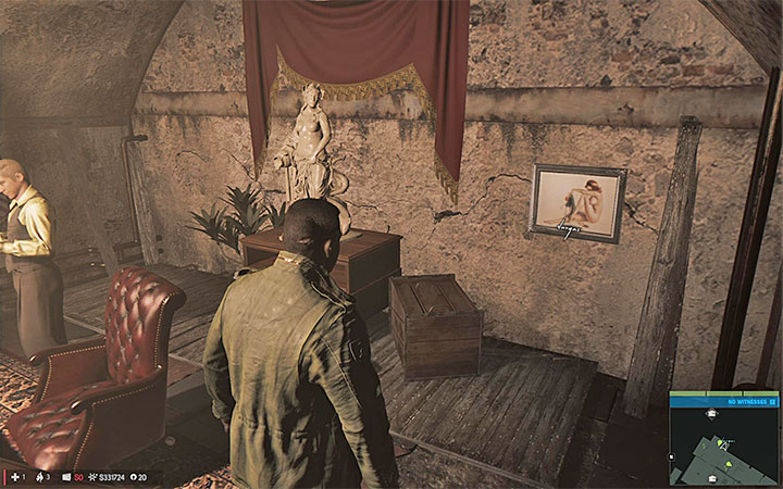 The painting is in the office shown above - Vargas paintings   Secrets - Secrets - Mafia III Game Guide