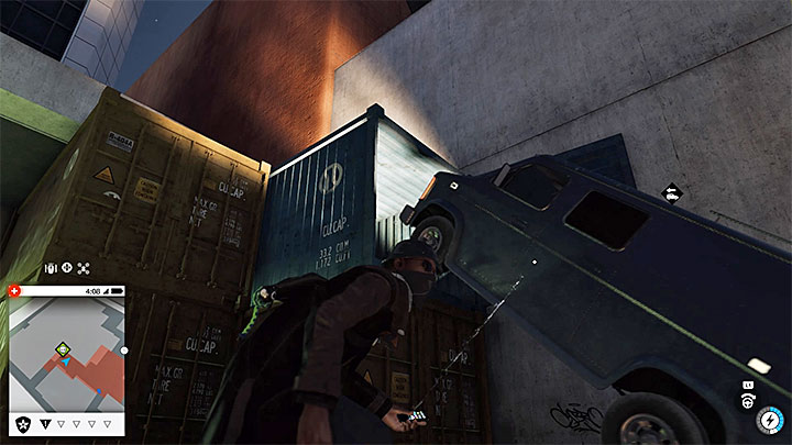 Enter the alley, and investigate a group of containers - Key data - locations from 1 to 12 - Collectibles - Watch Dogs 2 Game Guide