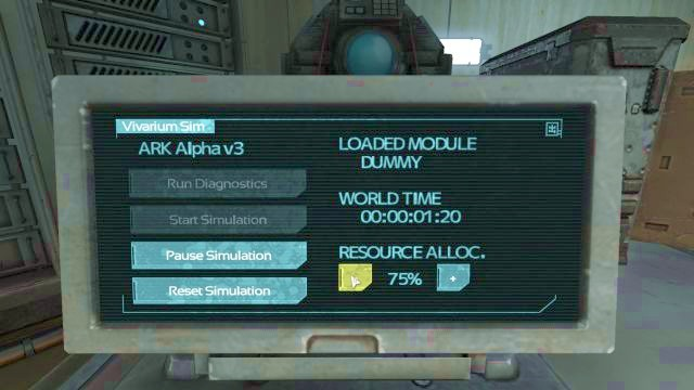 Reduce Resource Alloc. so that you will have an easier time pausing the simulation on Dummy. - Theta laboratory | Riddles and puzzles of SOMA Game - Riddles and puzzles - SOMA Guide
