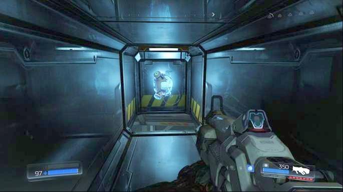 Inside it there will be Mega Health (secret) - Lazarus Labs | Secrets - Secrets - Doom Game Guide & Walkthrough