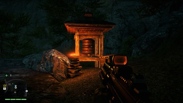 Facing the statue, turn left and go along the path - Southern and central Kyrat - Mani Wheels - Far Cry 4 - Game Guide and Walkthrough