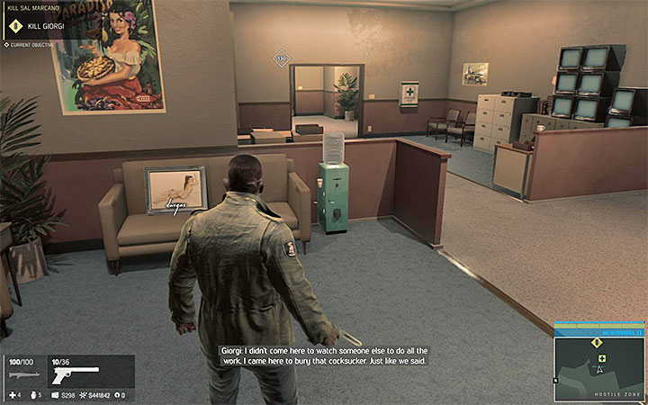 Painting 32 can be found in the corridor shown above - the corridor links the first and the second big area of the casino - Vargas paintings   Secrets - Secrets - Mafia III Game Guide