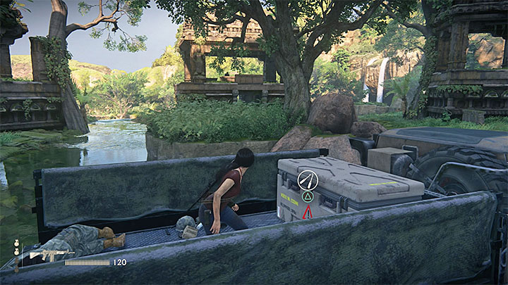 The only lockbox with supplies in this whole chapter is in the far side of large ruins (those occupied by mercenaries) - 3 - Homecoming | Secrets - Secrets - Uncharted: The Lost Legacy Game Guide