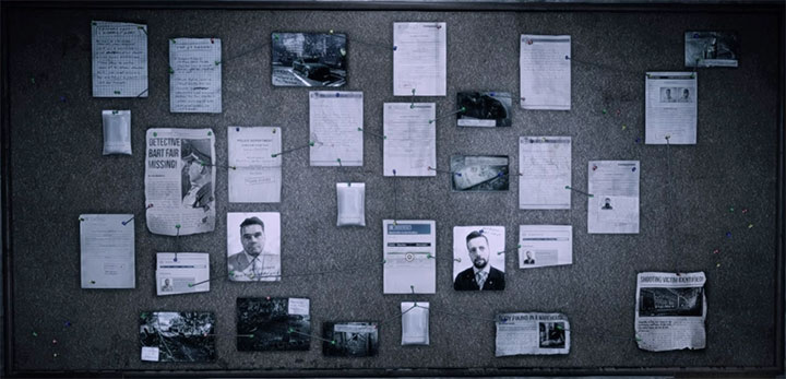 The evidence board for The Victim is shown on the screenshot above - The Victim | Hidden memories - Hidden memories - Get Even Game Guide