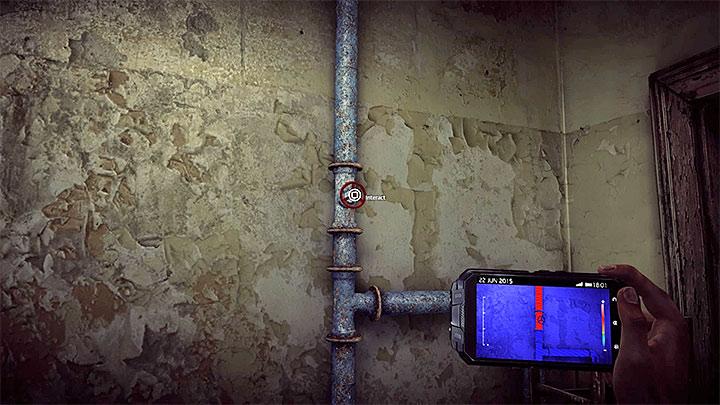 Przejdz teraz do jednego z sasiednich mniejszych pomieszczen - How to solve the water flow puzzle in the Asylum (Black)? - Solving the puzzles - Get Even Game Guide