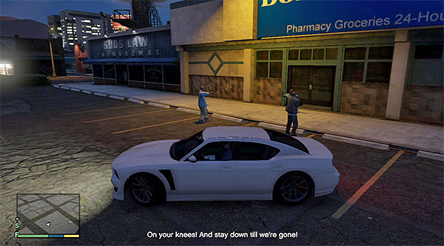 You can help the robbers, leave them to their fate or kill them - Getaway driver - Random events - Grand Theft Auto V Game Guide